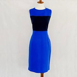 Tahari Sleeveless Color Block Sheath Dress